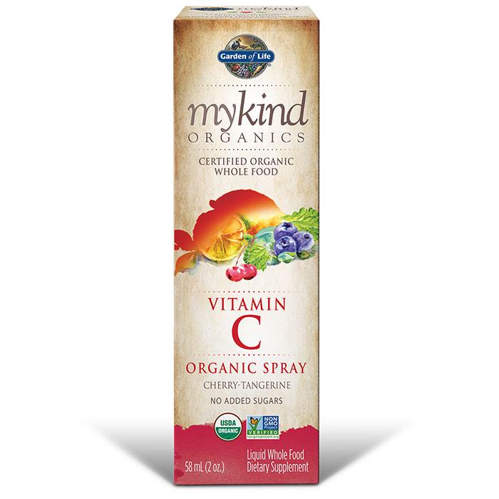 mykind Organics Amla Vitamin C Spray - Cherry Tangerine, 2 oz, Garden of Life