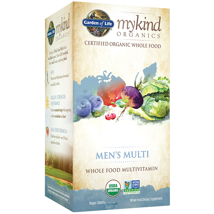 mykind Organics Mens Multi, Whole Food Multi-Vitamins, 60 Tablets, Garden of Life