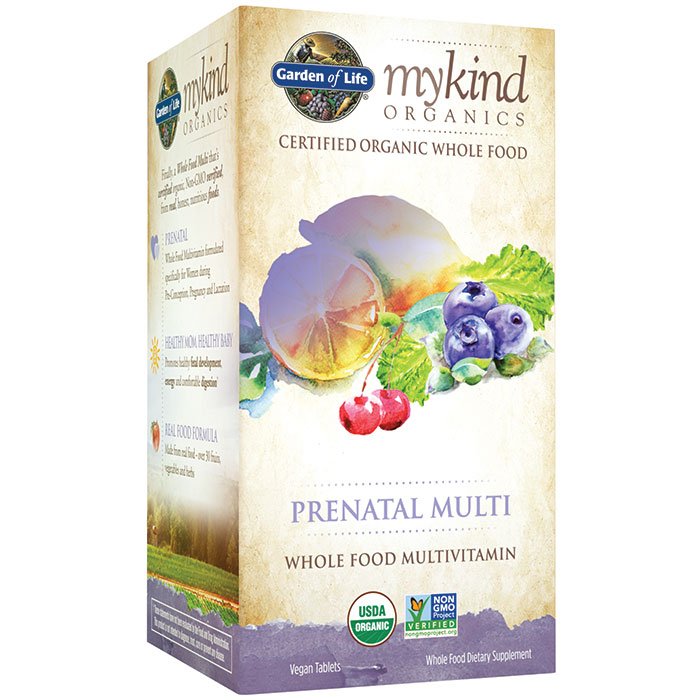 mykind Organics Prenatal Multi, Whole Food Multi-Vitamins, 90 Tablets, Garden of Life