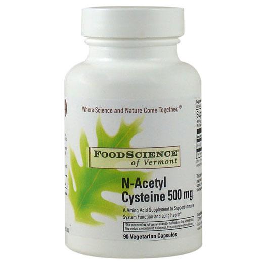 N-Acetyl Cysteine NAC 500mg 90 caps, FoodScience Of Vermont