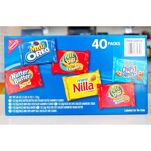 Nabisco Mini Snack Variety Pack, 40 Packs (40 oz)