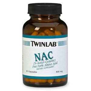 NAC N-Acetyl-Cysteine 600mg 60 caps from Twinlab