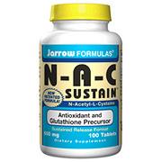 NAC Sustain ( N-Acetyl-L-Cysteine ) 600mg 100 tabs, Jarrow Formulas