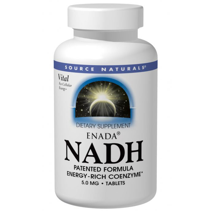 NADH 5 mg ENADA Blister, 60 Tablets, Source Naturals