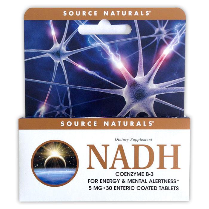 NADH 5mg, 30 Tablets, Source Naturals