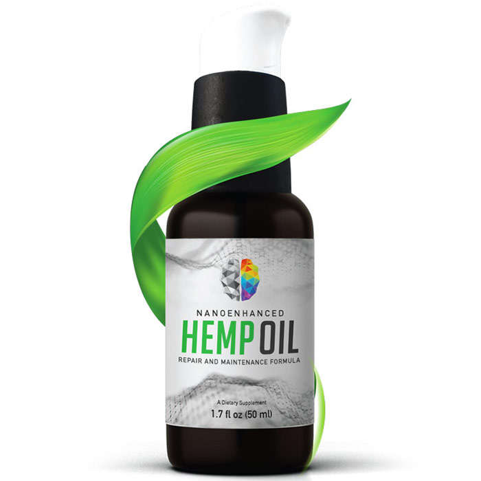 Nano-Enhanced Hemp Oil, 1.7 oz (50 ml), PrimeMyBody