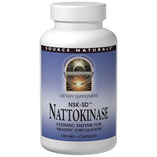Nattokinase 100 mg, 60 Capsules, Source Naturals
