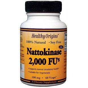 Nattokinase 2,000 FUs, 100 mg, 60 Vcaps, Healthy Origins