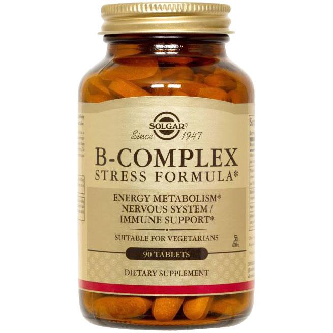 Natural B-Complex Stress Formula, 90 Tablets, Solgar