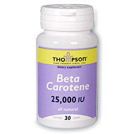 Natural Beta Carotene 25000 IU 30 softgels, Thompson Nutritional Products