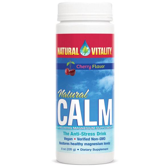 Natural Calm - Organic Cherry, The Anti-Stress Drink Mix, 8 oz, Natural Vitality