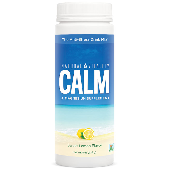 Natural Calm, The Anti-Stress Drink - Sweet Lemon, 8 oz, Natural Vitality