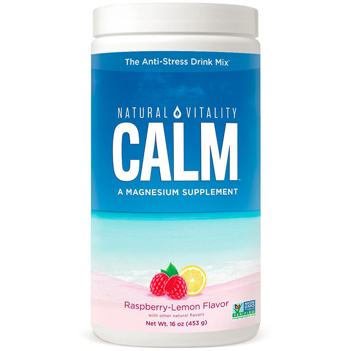 Natural Calm, Raspberry Lemon Flavor 16 oz, Peter Gillham's Natural Vitality