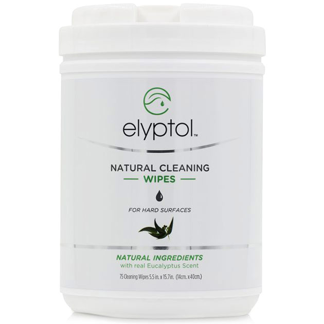Natural Cleaning Hard Surface Wipes, 75 Count Canister, Elyptol