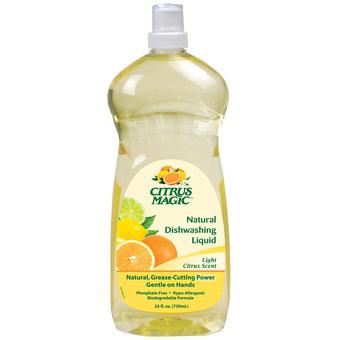 Natural Dishwashing Liquid, Light Citrus Scent, 25 oz, Citrus Magic
