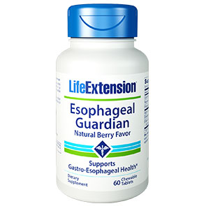 Esophageal Guardian, Natural Berry Flavor, 60 Chewable Tablets, Life Extension