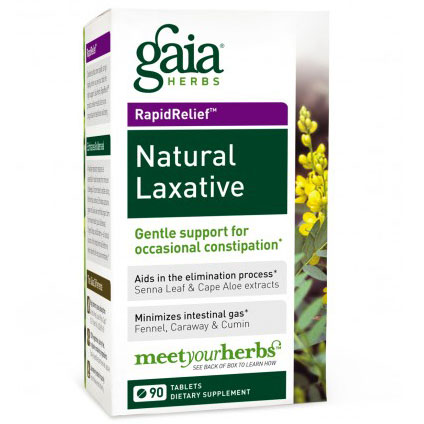 Natural Laxative, Rapid Relief, 90 Tablets, Gaia Herbs