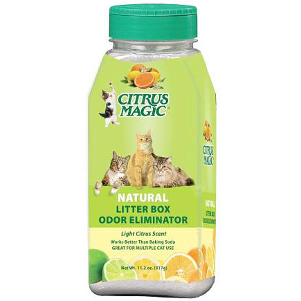 Natural Litter Box Odor Eliminator, Light Citrus Scent, 11.2 oz, Citrus Magic