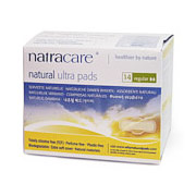 Natural Pads, Curved Regular, 14 Pads, Natracare