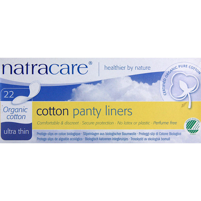 Image of Organic Cotton Panty Liners, Ultra Thin, 22 Liners, Natracare