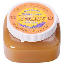 High Desert Natural Pure Honey with Natural Vanilla Flavor, 6 oz, CC Pollen Company