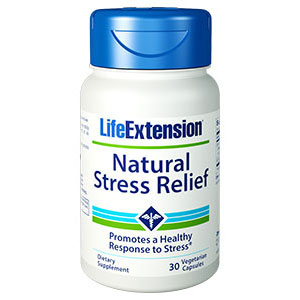 Natural Stress Relief, 30 Vegetarian Capsules, Life Extension