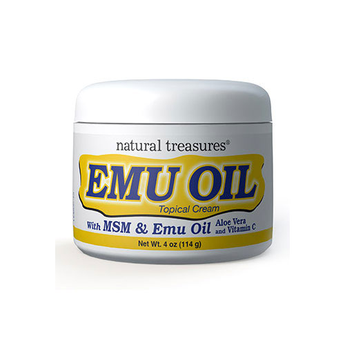Natural Treasures Emu Oil Cream 4 oz
