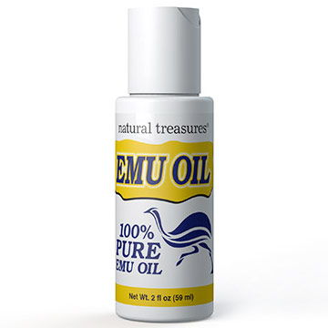 Natural Treasures Emu Oil 100% Pure 2 oz