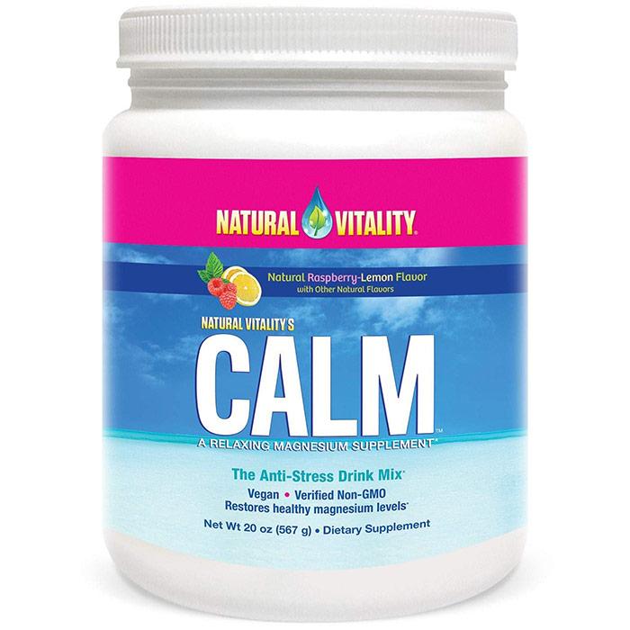Natural Vitality Calm, Anti-Stress Supplement Powder, Raspberry Lemon, 20 oz (567 g)