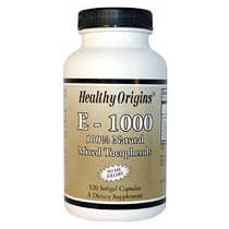Natural Vitamin E-1000IU, Mixed Tocopherols, 60 SoftGels, Healthy Origins