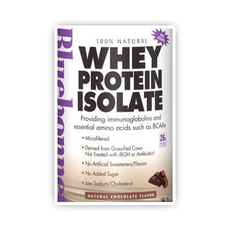 100% Natural Whey Protein Isolate Powder, Natural Chocolate Flavor, 1 oz x 8 Packets, Bluebonnet Nutrition