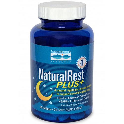 NaturalRest Plus+, Relax & Sleep Support, 60 Tablets, Trace Minerals Research