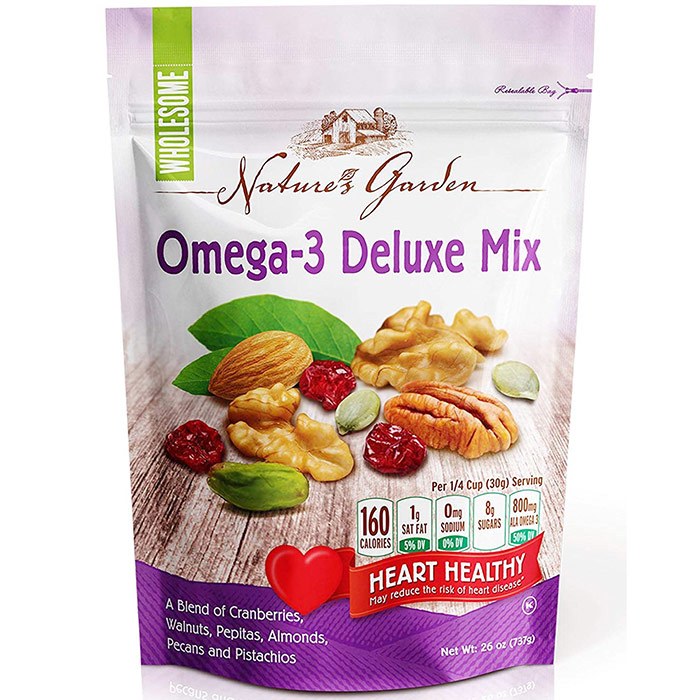 Natures Garden Omega-3 Deluxe Nut Mix, 26 oz (737 g)
