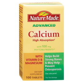 Nature Made Advanced Calcium with Phytonutrients, 100 Tablets