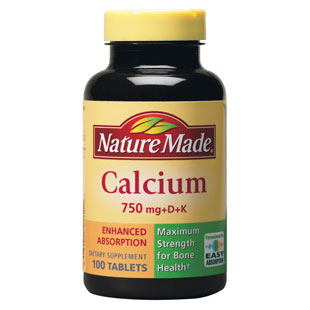 Nature Made Calcium 750 mg + D + K, 100 Tablets - CLICK HERE TO LEARN MORE