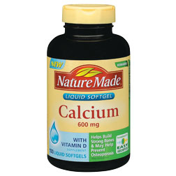 Nature Made Calcium Liquid Softgel (600 mg + D), 100 Softgels - CLICK HERE TO LEARN MORE