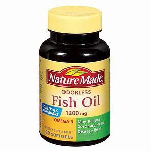 Nature Made Fish Oil Odorless 1200 mg, 60 Softgels