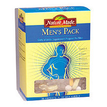 Nature Made Mens Pack Daily Vitamins 30 Day Pack