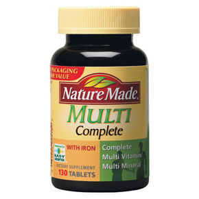 Nature Made Multi Complete Vitamins & Minerals, 130 Tablets - CLICK HERE TO LEARN MORE