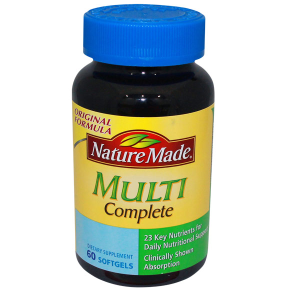 Nature Made Multi Complete Liquid Softgel Multi-Vitamins, 60 Softgels