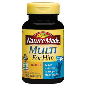 Nature Made Multi For Him, Multi Vitamins & Minerals for Men 90 Tablets