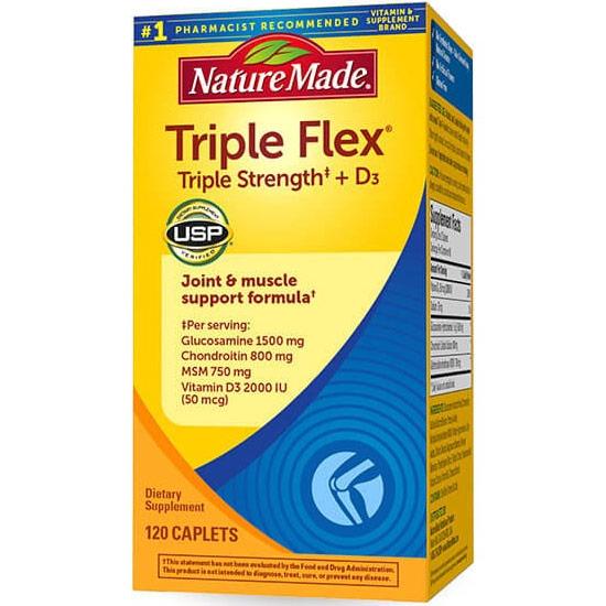 Nature Made Triple Flex Triple Strength, TripleFlex Joint Health, 120 Caplets