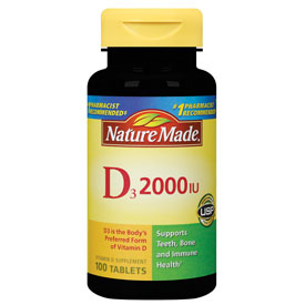 Nature Made Vitamin D 2000 IU, 90 Tablets - CLICK HERE TO LEARN MORE