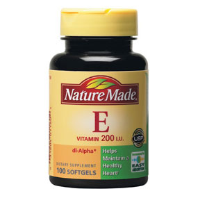 Nature Made Vitamin E 200 IU Dl-Alpha, 100 Softgels - CLICK HERE TO LEARN MORE