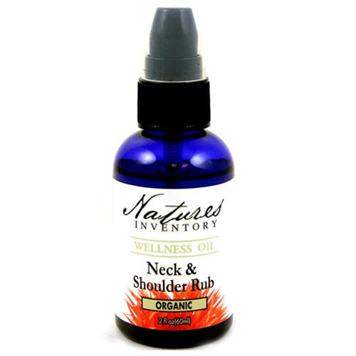Neck & Shoulder Rub Wellness Oil, 2 oz, Natures Inventory