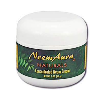 Neem Cream with Aloe Vera, 2 oz, Neem Aura
