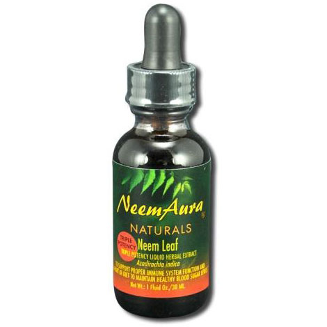 Neem Leaf 3X Concentration Liquid Herbal Extract, 1 oz, Neem Aura