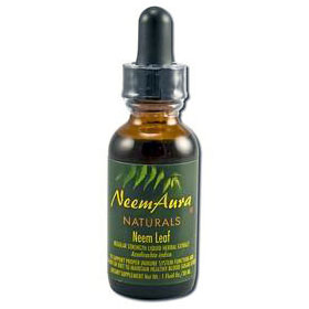 Neem Leaf Regular Strength Liquid Herbal Extract, 1 oz, Neem Aura