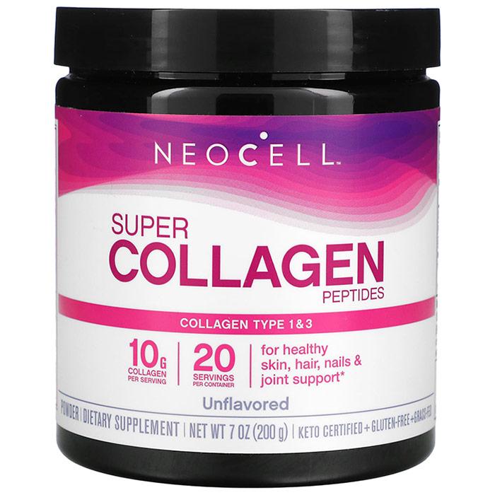 NeoCell Super Collagen Powder, Collagen Type I & III, 7 oz