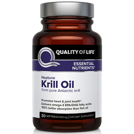 Neptune Krill Oil (From Pure Antarctic Krill), 30 Softgels, Quality of Life Labs
